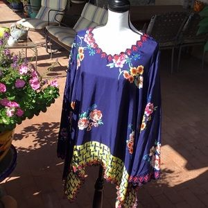 NWT Johnny Was Silk Blouse